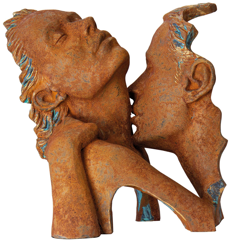"Skulptur ""Verführung"", Kunstguss Steinoptik"