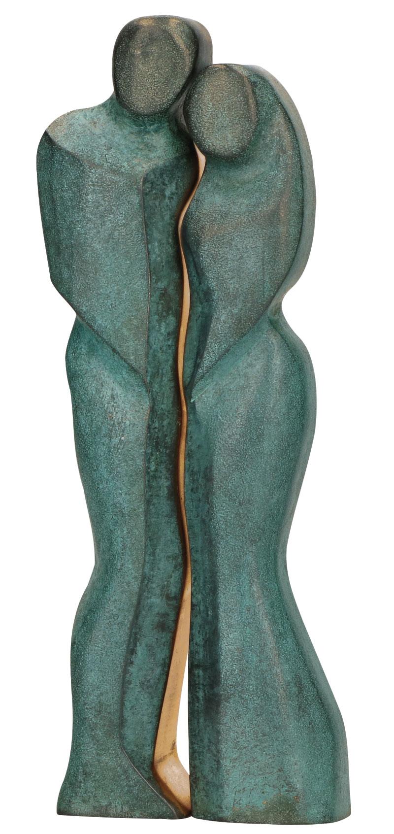 """Skulptur """"Paar"""", Bronze"""