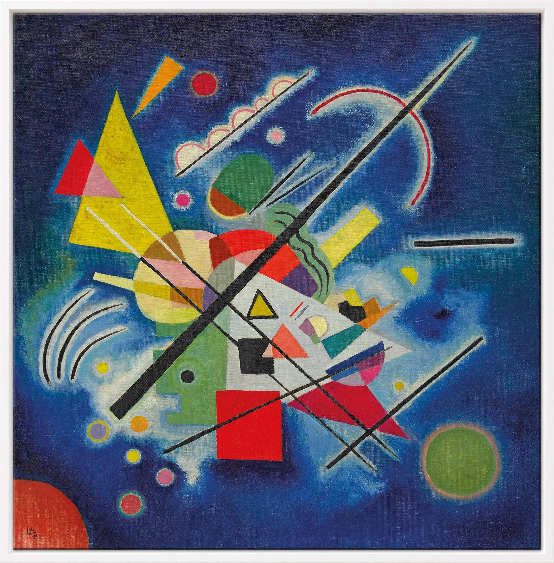 """Bild """"Blaues Bild"""" (1924), gerahmt"""
