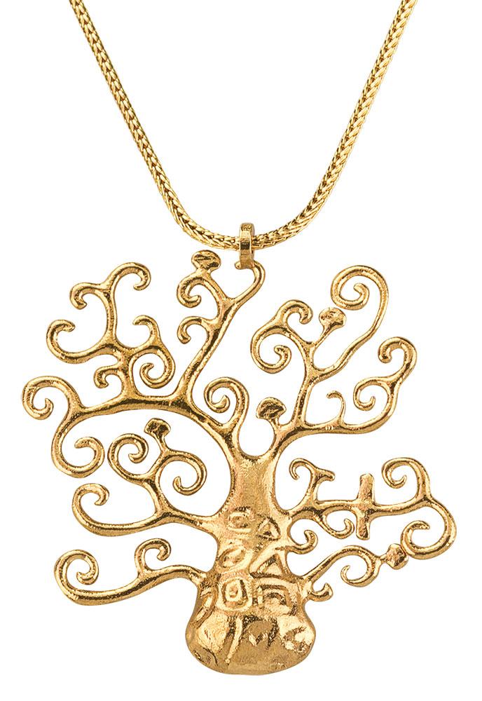 """Collier """"Goldener Lebensbaum"""" - nach Gustav Klimt"""