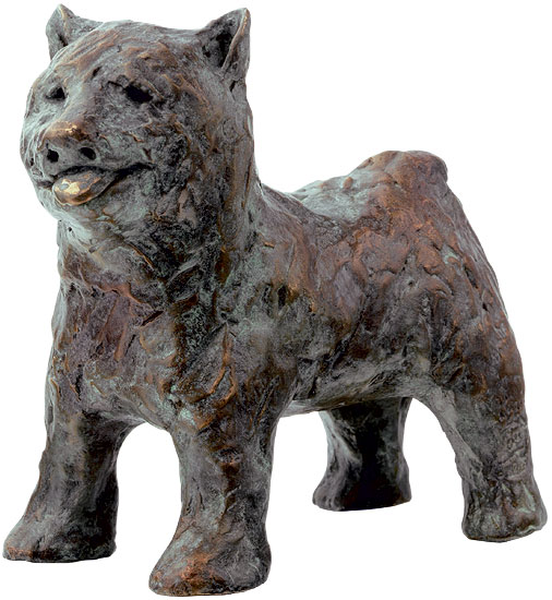 """Skulptur """"Hund"""" (2013), Bronze"""