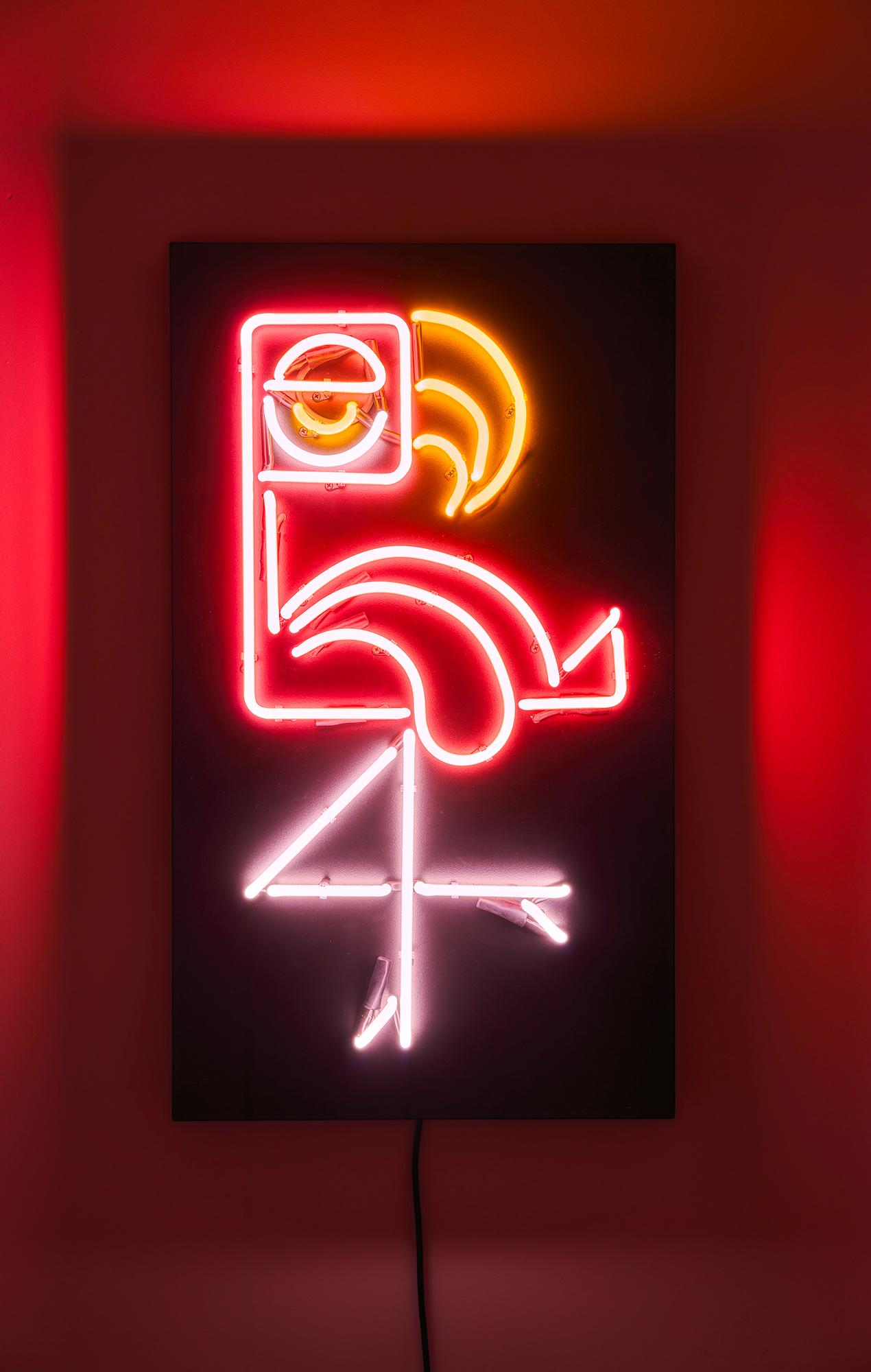 "Wandobjekt ""Flamingo"" (2020)"