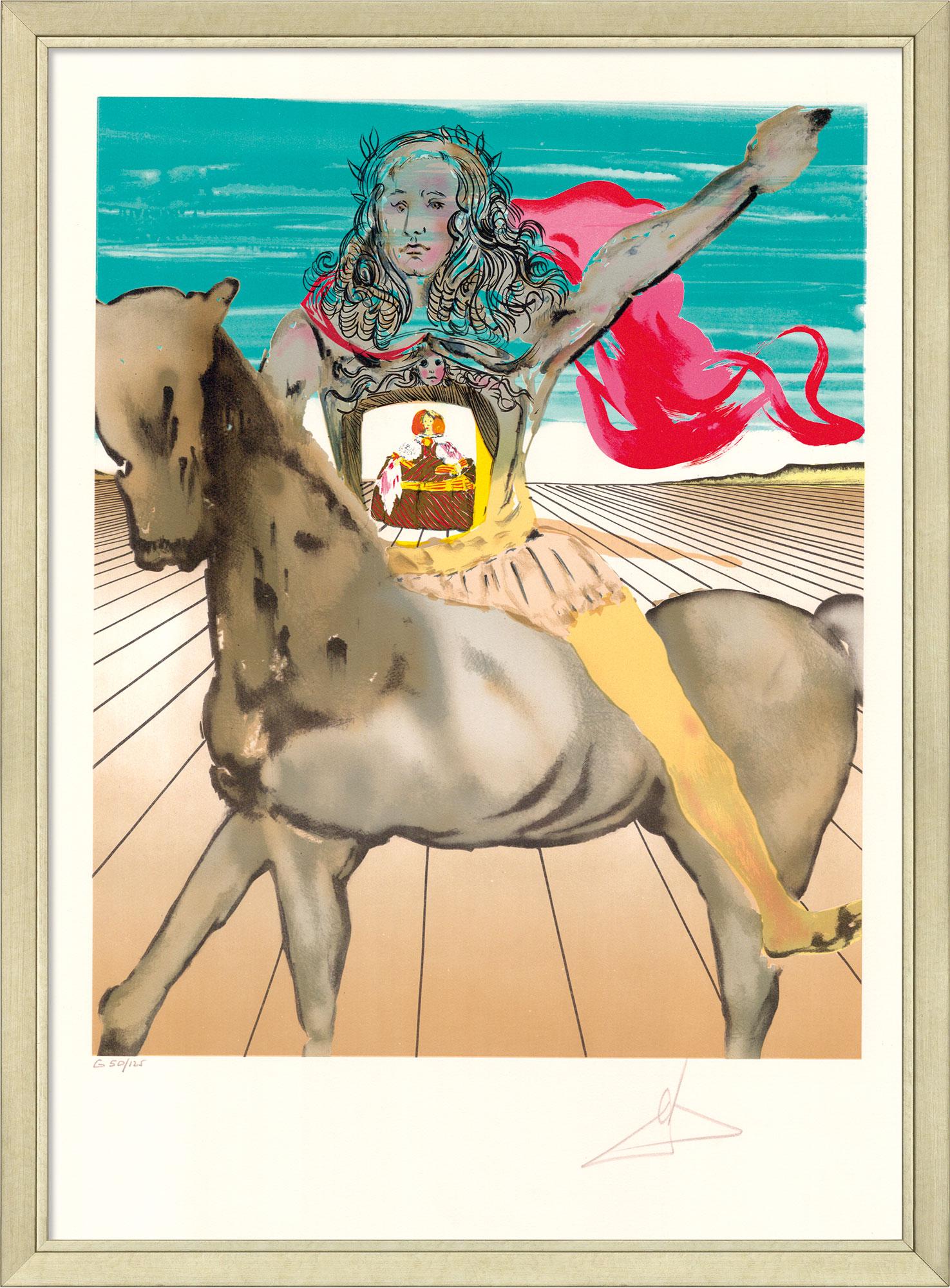 """Bild """"Chevalier surréaliste (Hommage à Velàsquez)"""", gerahmt"""