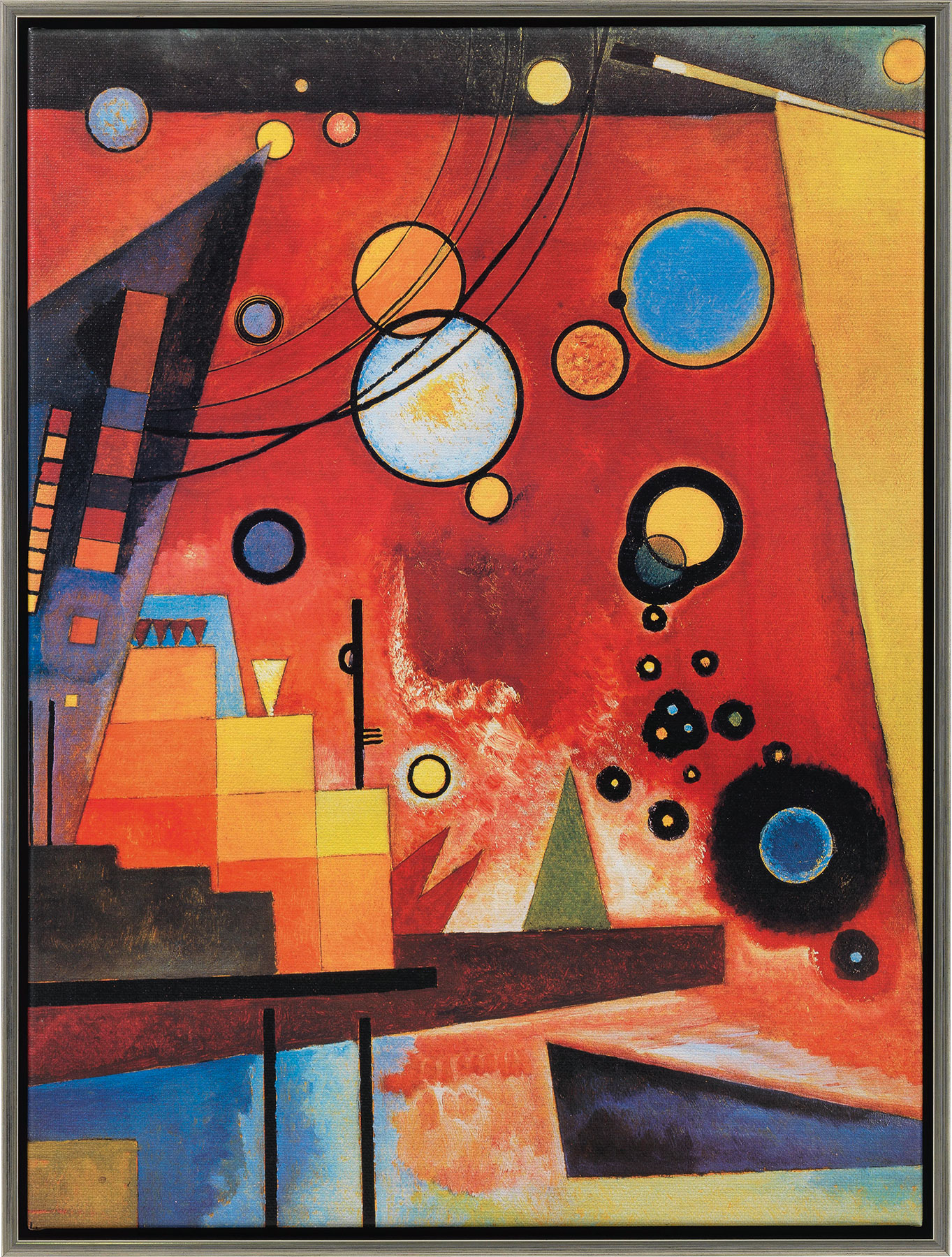 """Bild """"Schweres Rot"""" (1924), gerahmt"""