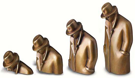 """Skulpturengruppe """"Sequenz"""", Version in Bronze"""