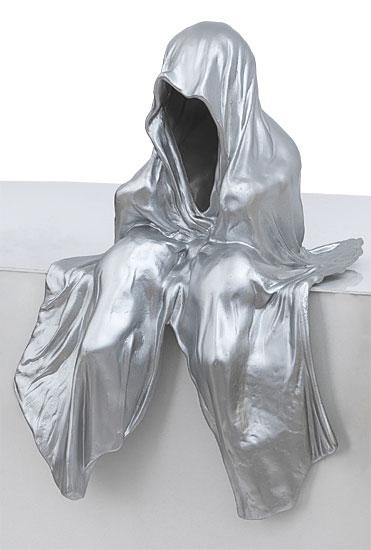 """Figur """"Mini Wächter"""" (2012), silberlackierte Version"""