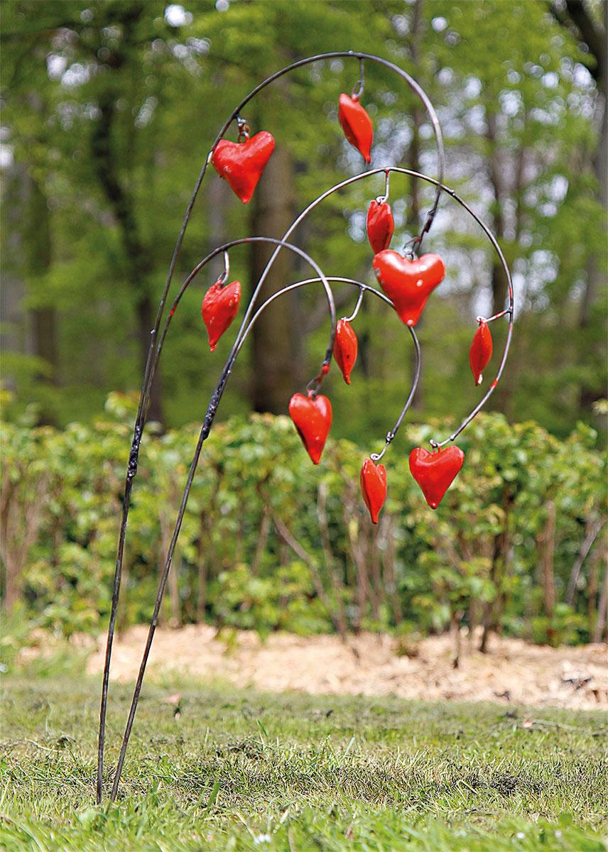 """Gartenstecker-Blumenset """"Herzblumen"""", 2-teilig"""