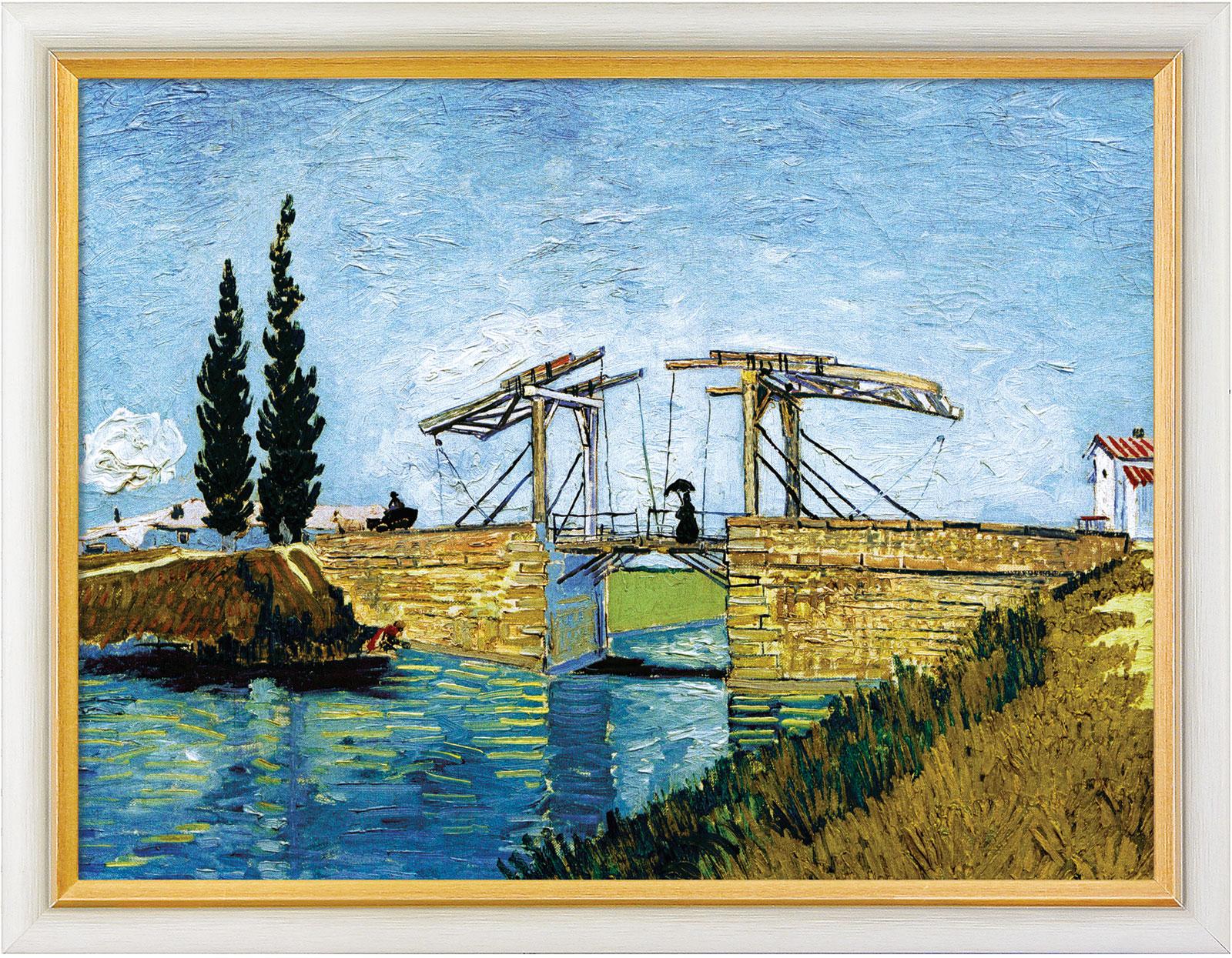 """Bild """"Die Zugbrücke"""" (1888), gerahmt"""