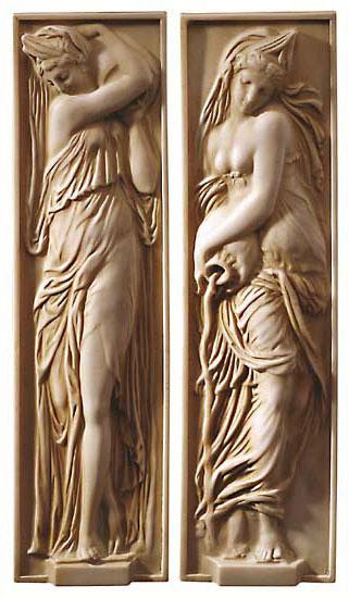 """Reliefs """"Wasserträgerinnen"""""""
