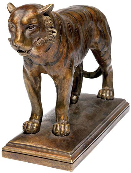 """Skulptur """"Tiger"""", Version in Steinguss"""