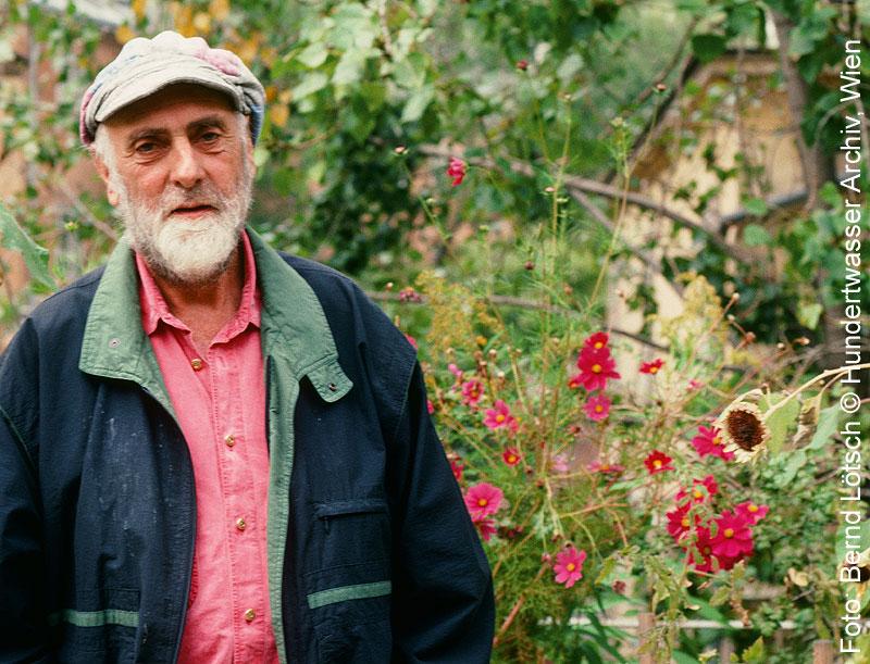 Porträt des Künstlers Friedensreich Hundertwasser