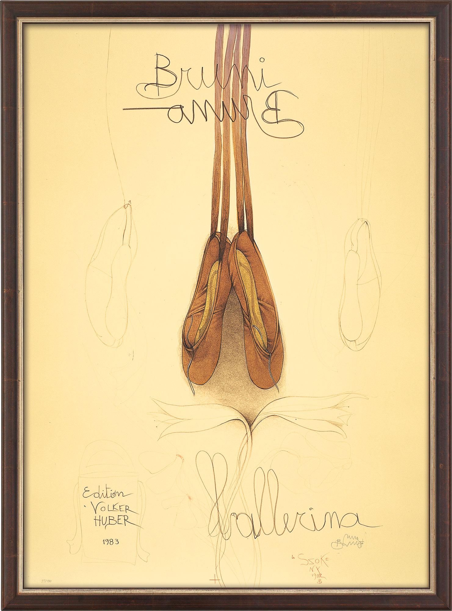 "Bild ""Ballerina"" (1983), gerahmt"