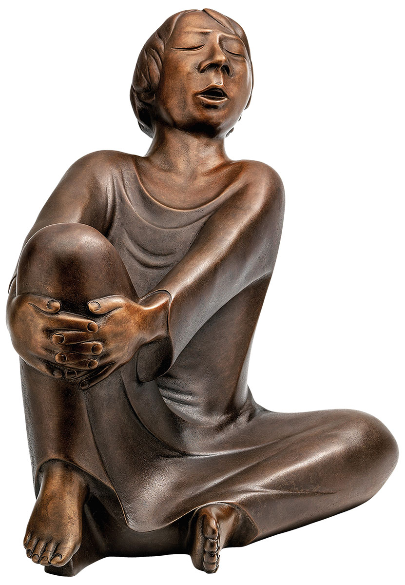 """Skulptur """"Der singende Mann"""" (1928), Reduktion in Bronze, Höhe 34 cm"""