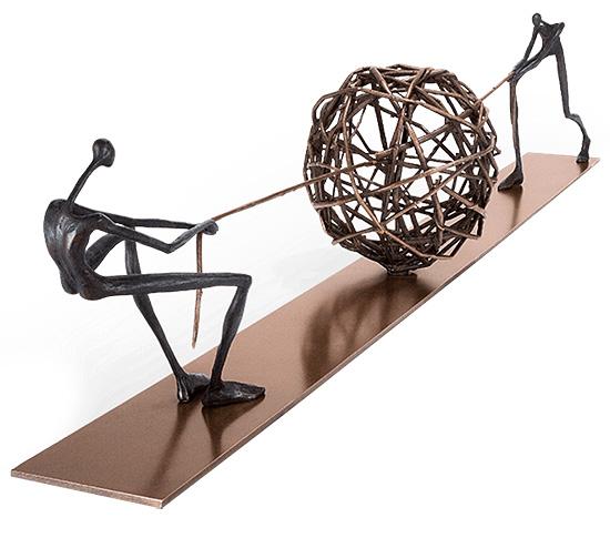 """Skulptur """"Tangle"""", Bronze"""
