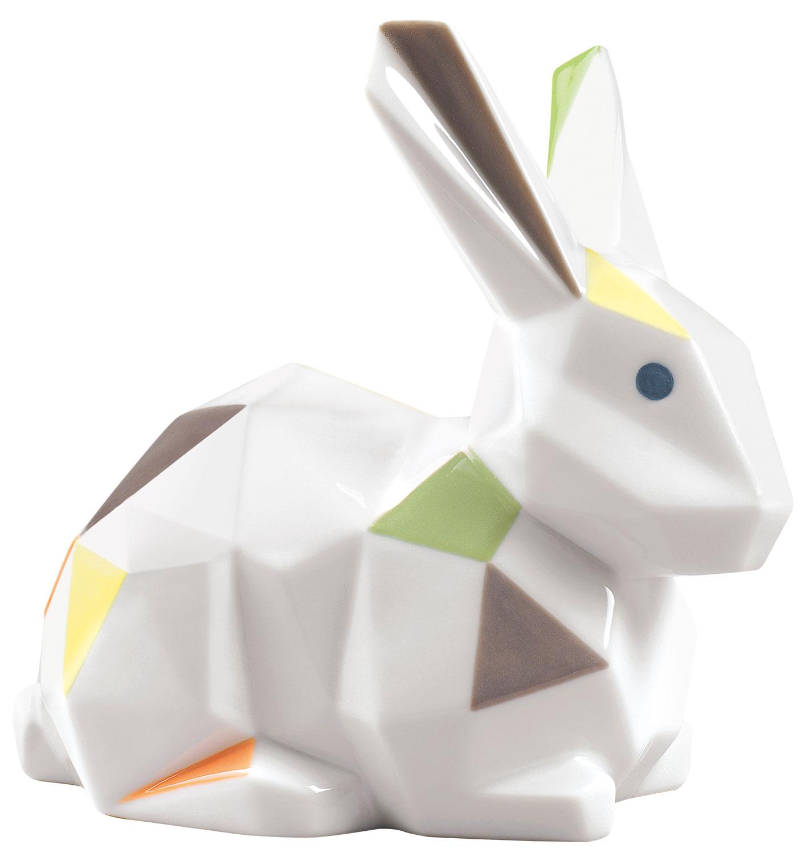 """Porzellanfigur """"Kaninchen"""", farbige Version"""