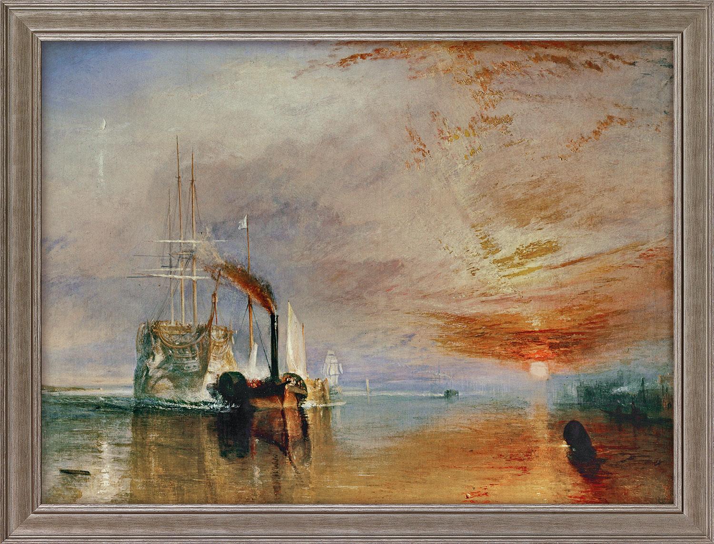 """Bild """"Die letzte Fahrt der Temeraire"""" (1839), gerahmt"""
