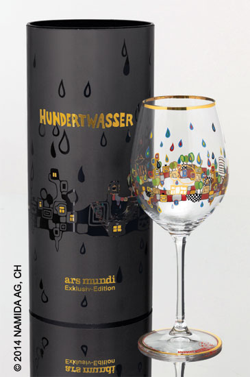 """(PM XIX/5) Weinglas """"BEAUTY IS A PANACEA - Platin - Weißwein"""""""