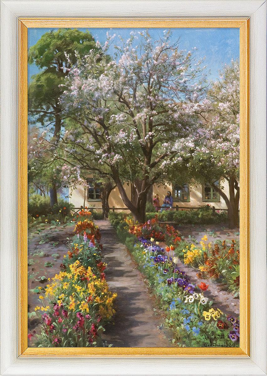 "Bild ""Blühender Garten im Frühling"" (1930), gerahmt"