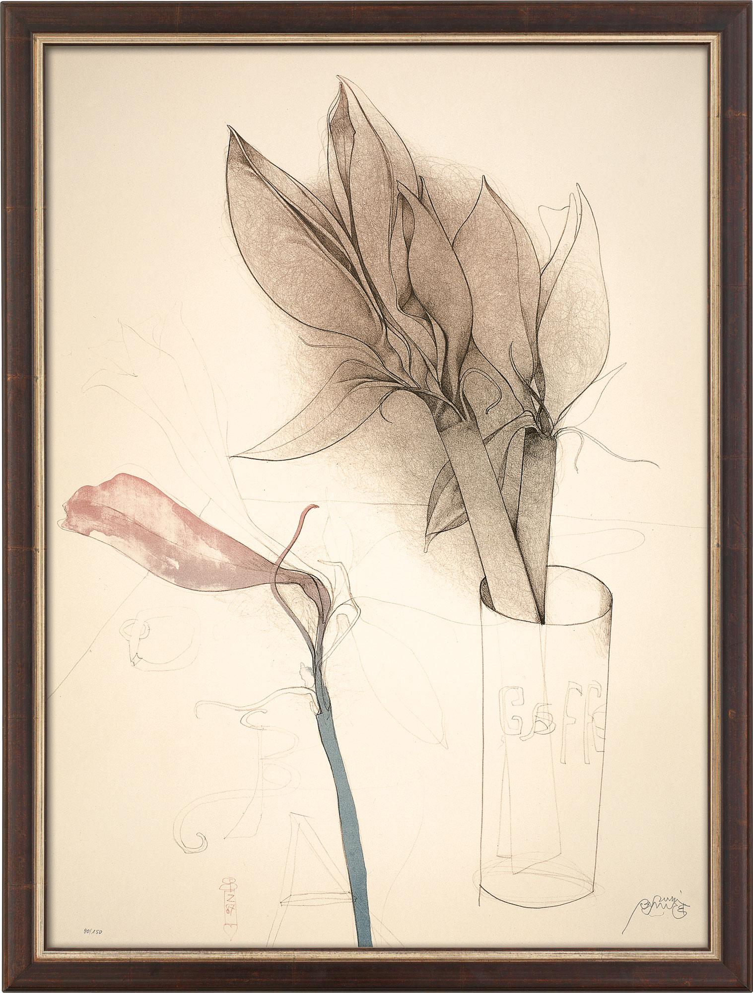 """Bild """"Amaryllis und Gaffel"""" (1987), gerahmt"""