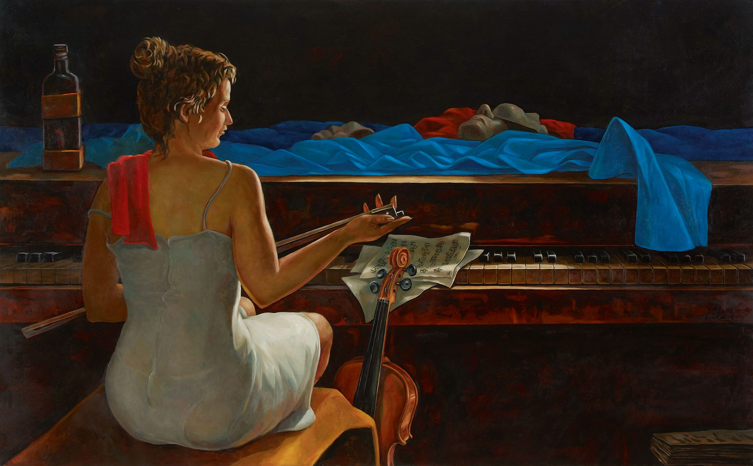 "Bild ""Das Piano"", auf Keilrahmen"