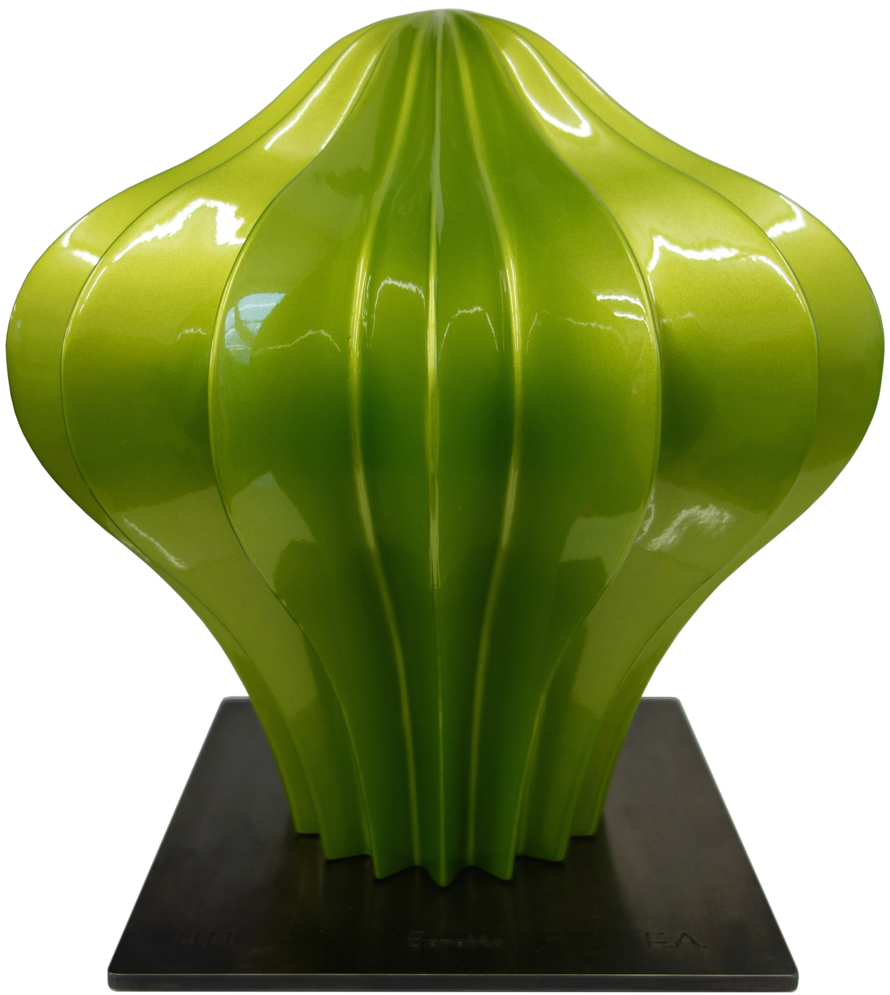 """Skulptur """"Beretto Alu, light-green"""" (2016)"""