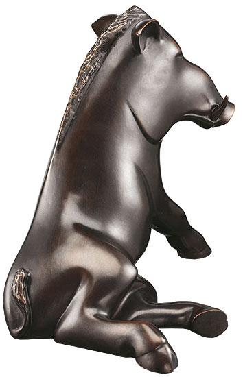 """Skulptur """"Eber"""", Bronze"""