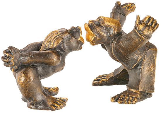 "Skulpturenpaar ""Küsschen-Küsschen"" im Set, Kunstguss"