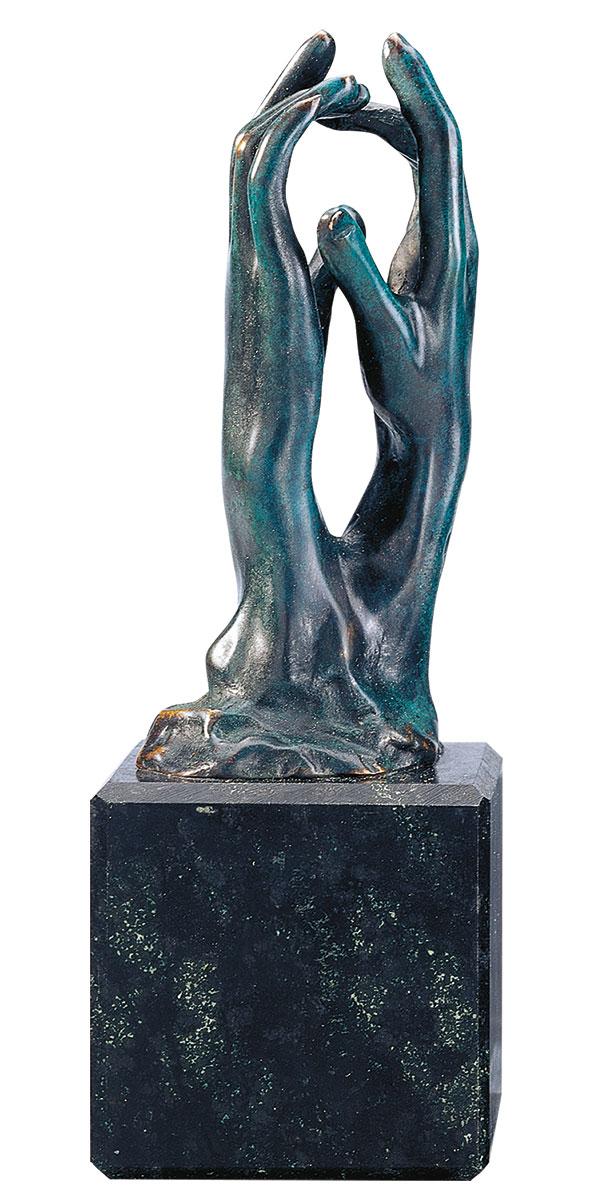"""Skulptur """"Die Kathedrale"""" (Étude pour le secret), Version in Bronze"""