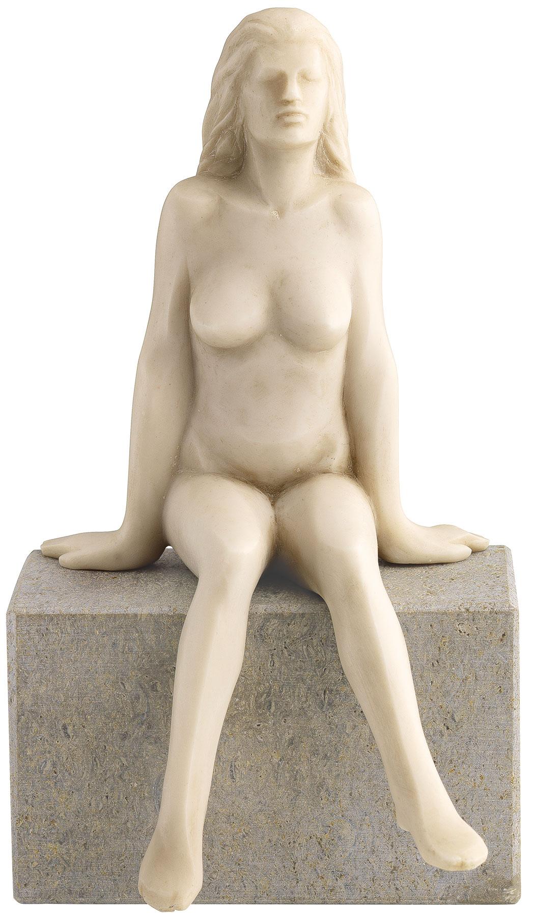 """Skulptur """"Innehalten"""", Version in Kunstmarmor"""