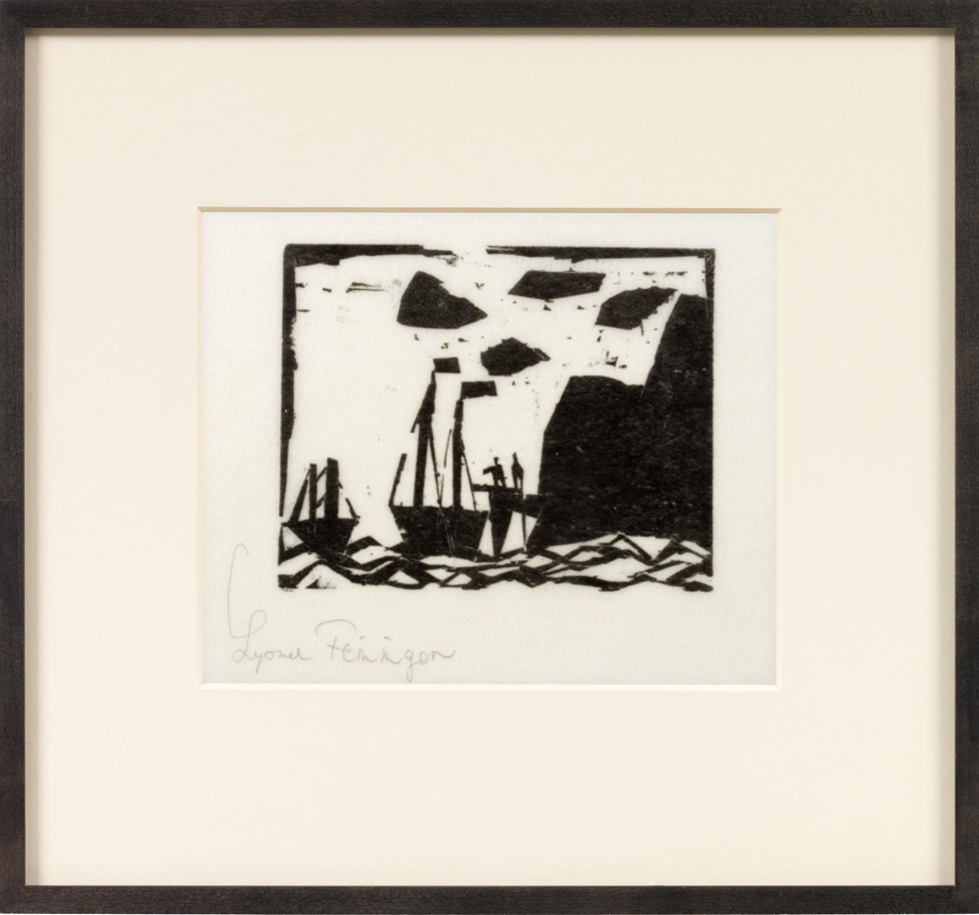 "Bild ""Schiffe am Felsenstrand"" (1920)"