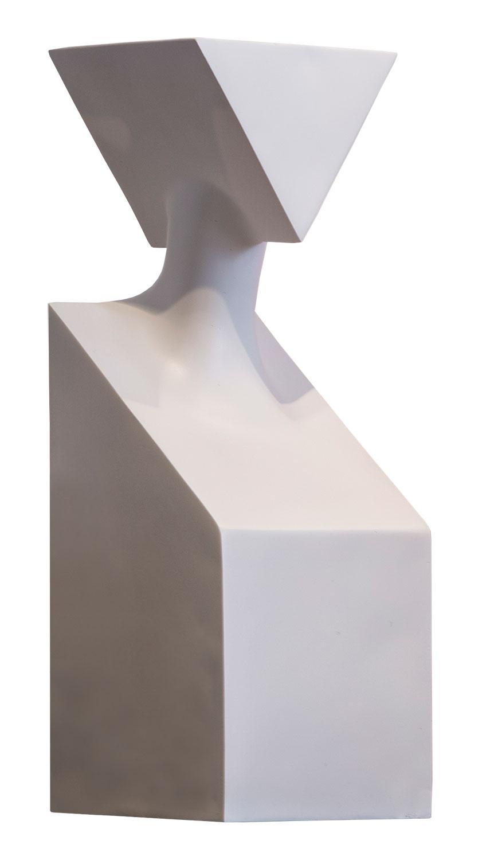 "Skulptur ""The Muses Thalia"", Version in Kunstguss weiß"