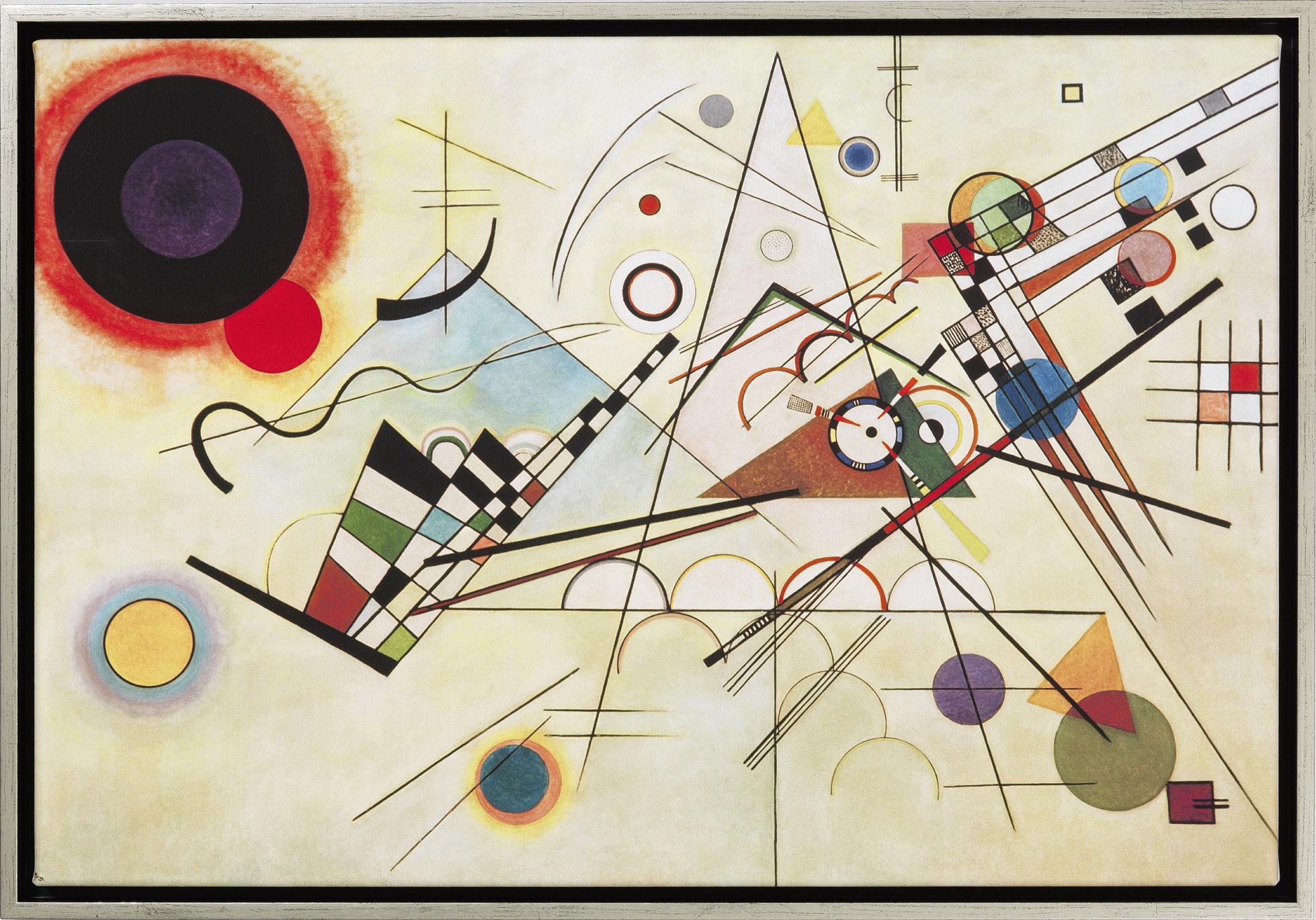 "Bild ""Komposition VIII"" (1923), gerahmt"