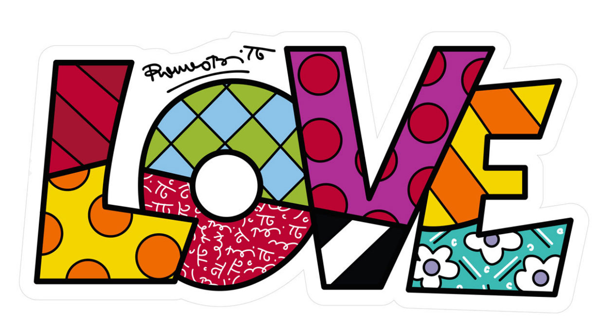 "Art Panel / Wandobjekt ""Love"""