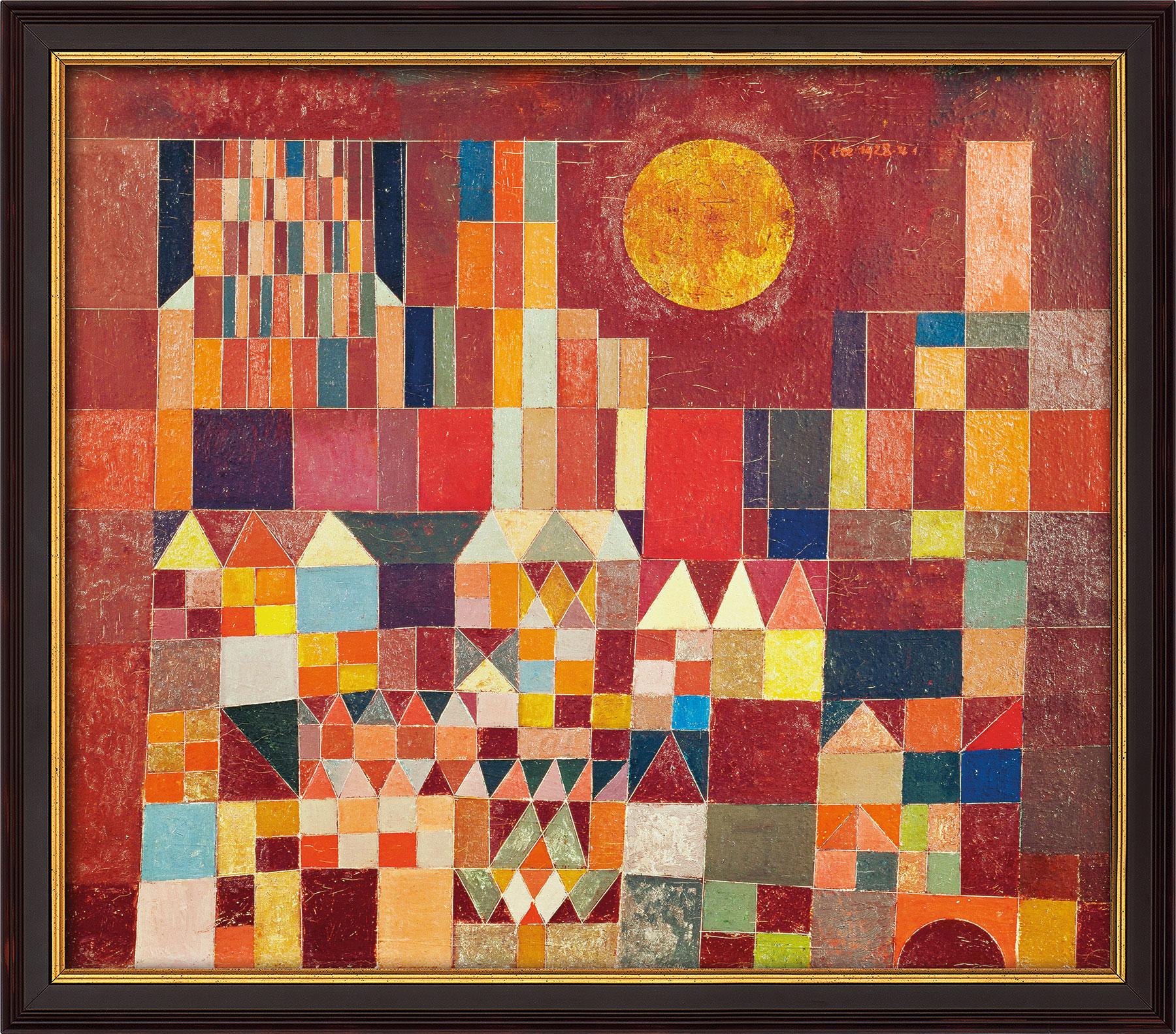 """Bild """"Burg und Sonne"""" (1928), gerahmt"""