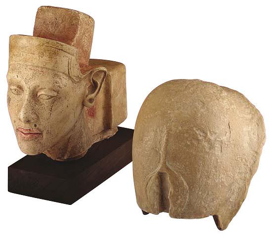 Echnaton-Porträtkopf mit aufgesetzter Krone