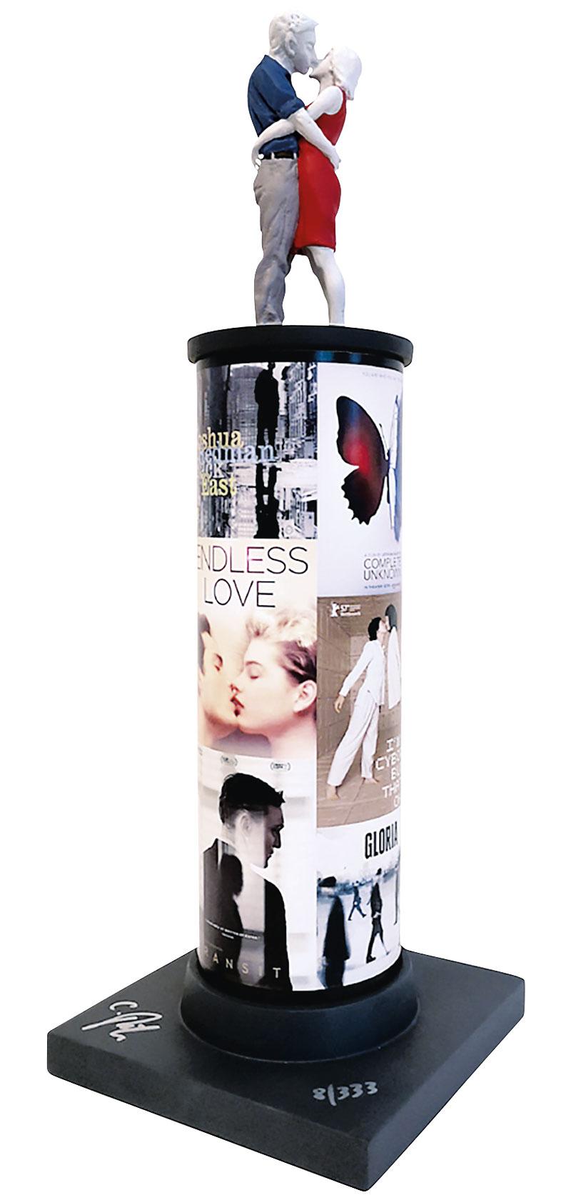 """Skulptur """"Säulenheilige - Love"""", Kunstguss handbemalt"""