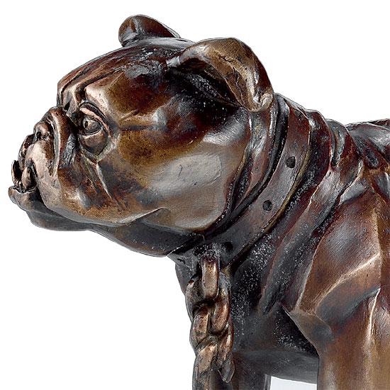 "Skulptur ""Simplicissimus-Bulldogge"", Version in Kunstbronze"