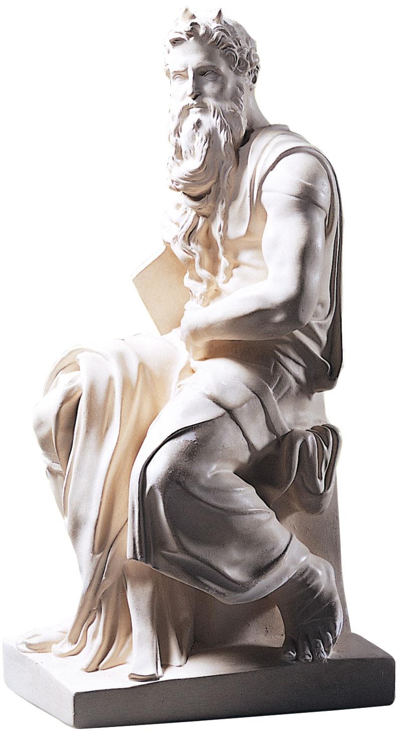 "Skulptur ""Moses"" (1513-16), Reduktion in Kunstmarmor"