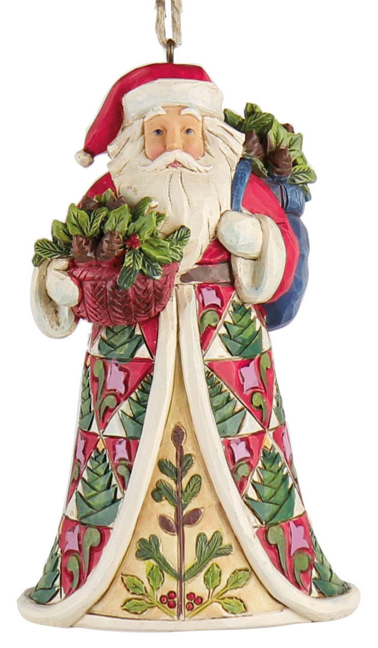 "Weihnachtsanhänger ""Santa mit Korb"""