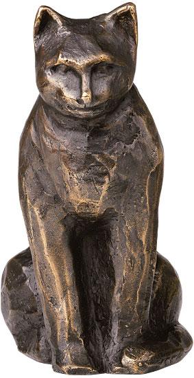 "Skulptur ""Sitzende Katze"", Bronze"
