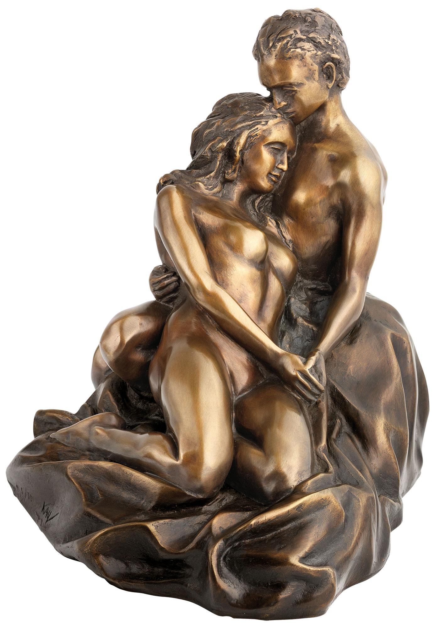 """Skulptur """"Liebespaar"""" (2017), Version in Bronze"""