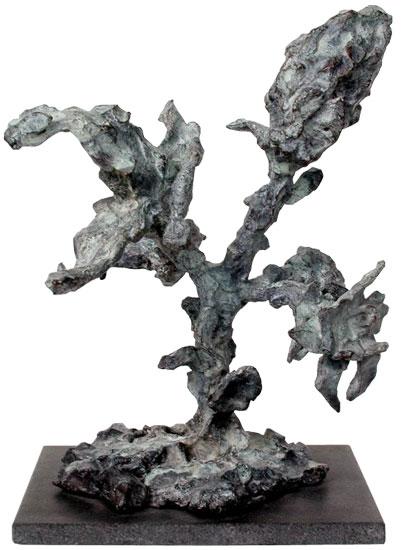 """Skulptur """"In"""" (2001), Bronze"""