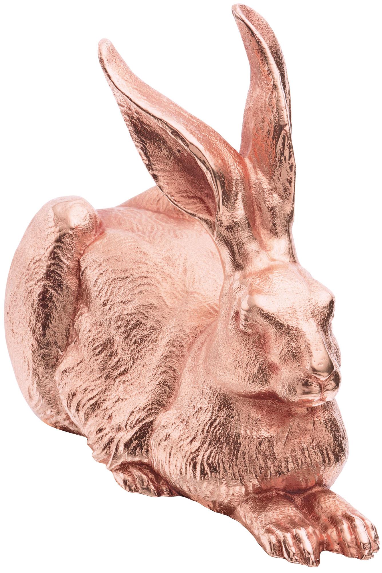 "Skulptur ""Dürer-Hase"" (2012), Version Zinn rosévergoldet"