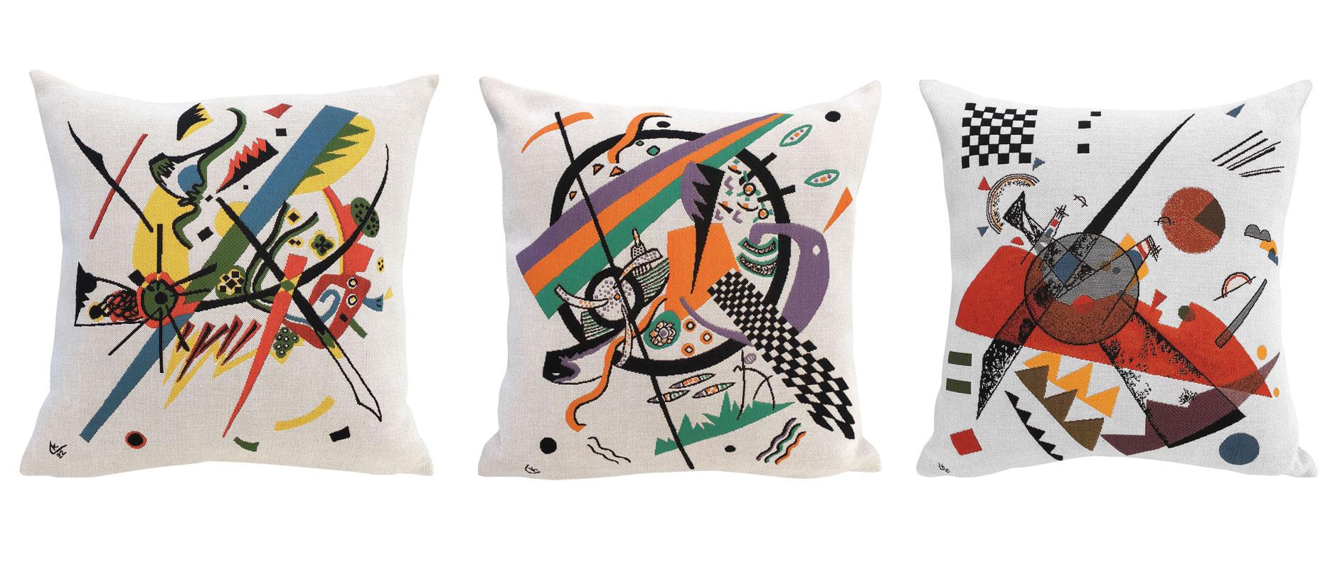 3 Kissenhüllen mit Künstlermotiven im Set