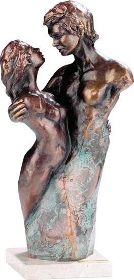 """Skulptur """"Innig vertraut"""", Kunstbronze"""
