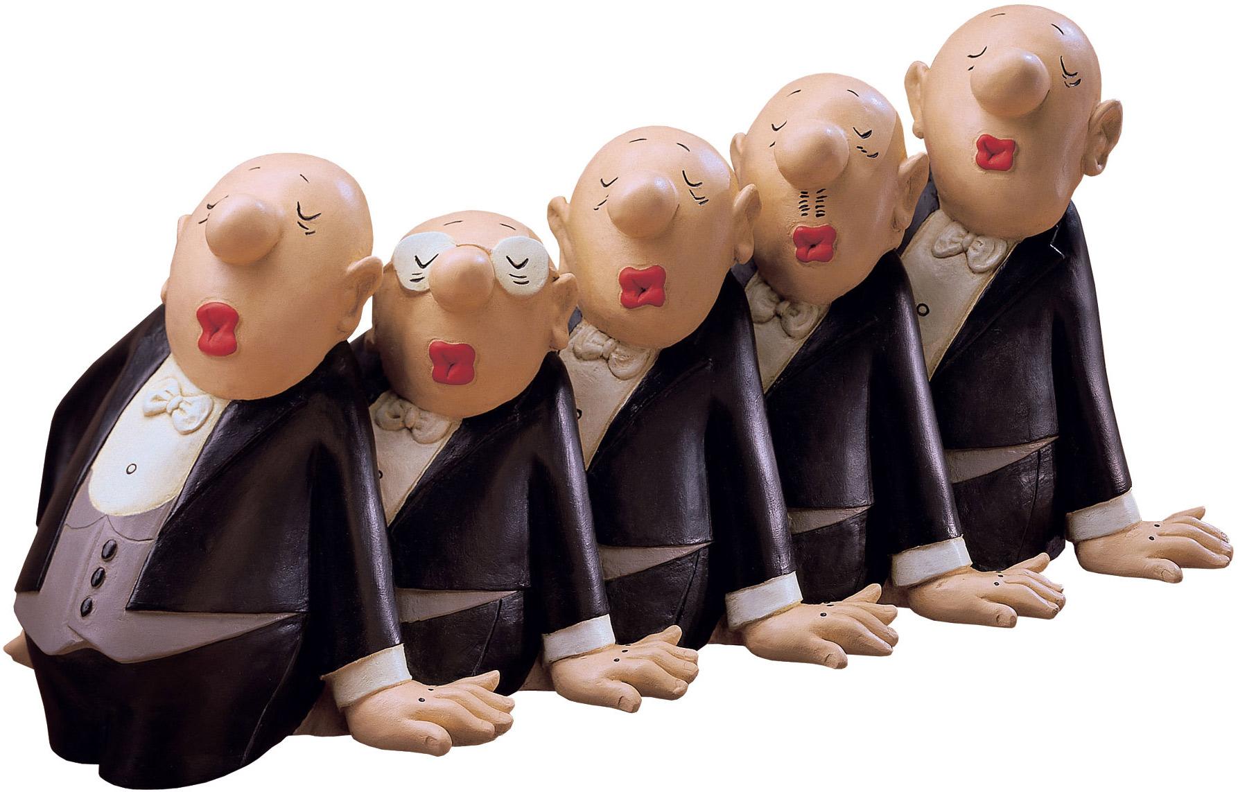 """Skulptur """"Comedian Harmonists"""", Version in Kunstguss handbemalt"""