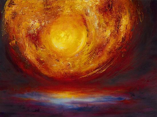 "Bild ""New Rising Sun"", auf Keilrahmen"