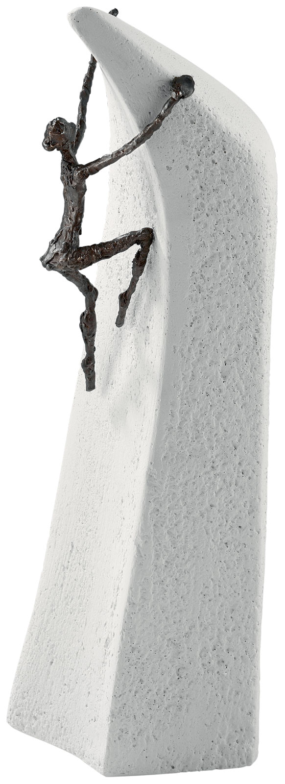 """Skulptur """"Alles ist möglich"""", Bronze auf Steinguss"""