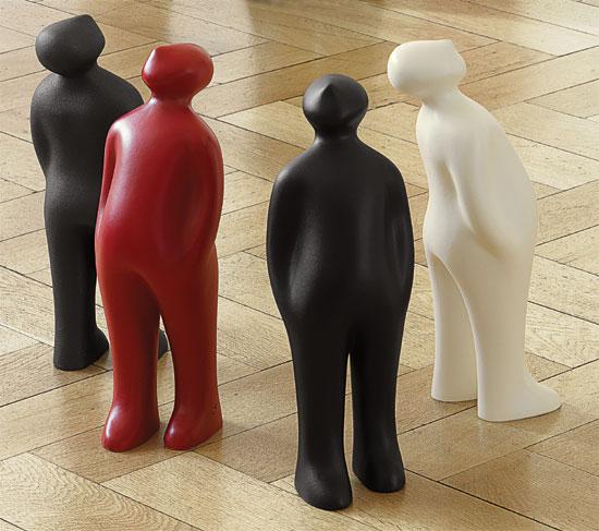"""Keramikfigur """"The Visitor"""" (kleine Version, Höhe 38 cm, schwarz)"""