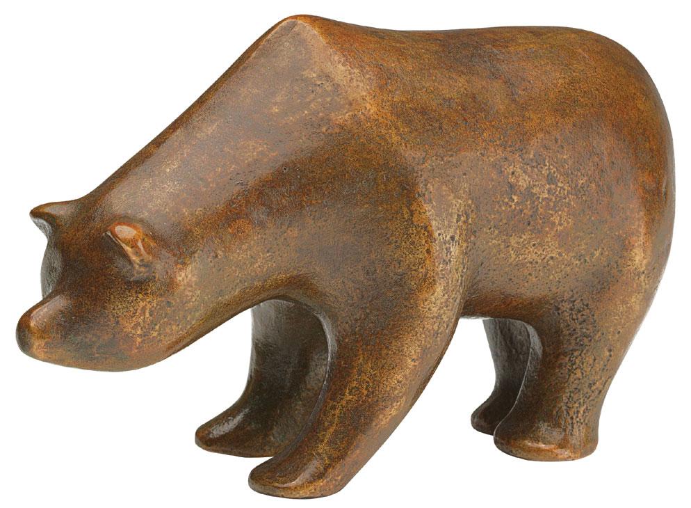 """Skulptur """"Bär"""", Bronze"""